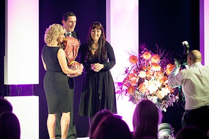 Ingrid Avramovic collects Alive Network's Employer of the Year award