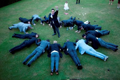 The male wedding party