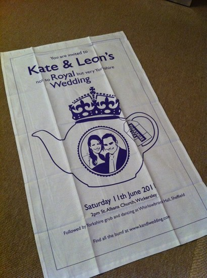 Save the date tea towel
