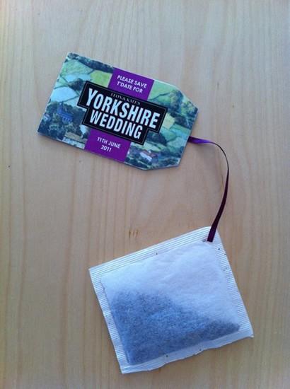 Save The Date tea bag