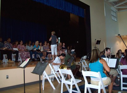 Rehearsals at Camana Bay