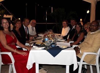 VIP guests enjoying dinner