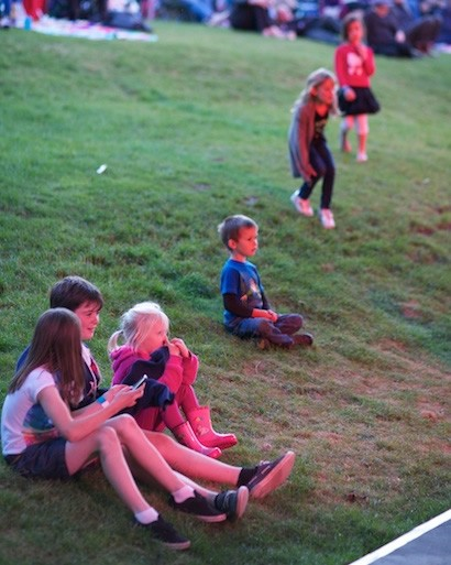 Children joining in