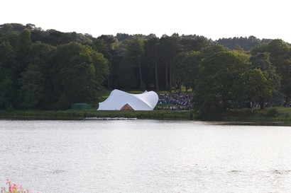 Lake and stage set up