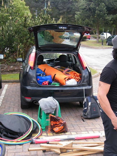 Loading the car