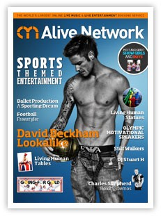 Sports themed entertainment brochure