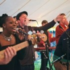 Roots Carnival, Rock & Pop Wedding Band available to hire for weddings in Caernarfon