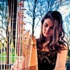 The Cardiff Harpist, live entertainment to hire at Alive Network Entertainment Agency