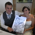 Caractacus, Wedding Caricaturist available to hire for weddings in Kent