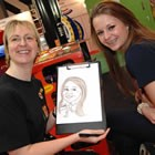 C R Caricatures, Wedding Mix and Mingle available to hire for weddings in Merioneth