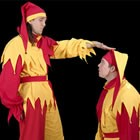 Jugglers In Jester Costume, Mix and Mingle for hire in Cardigan