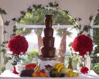 Single Luxury Chocolate Fountain, Wedding Event Supplier available to hire for weddings in Pembroke