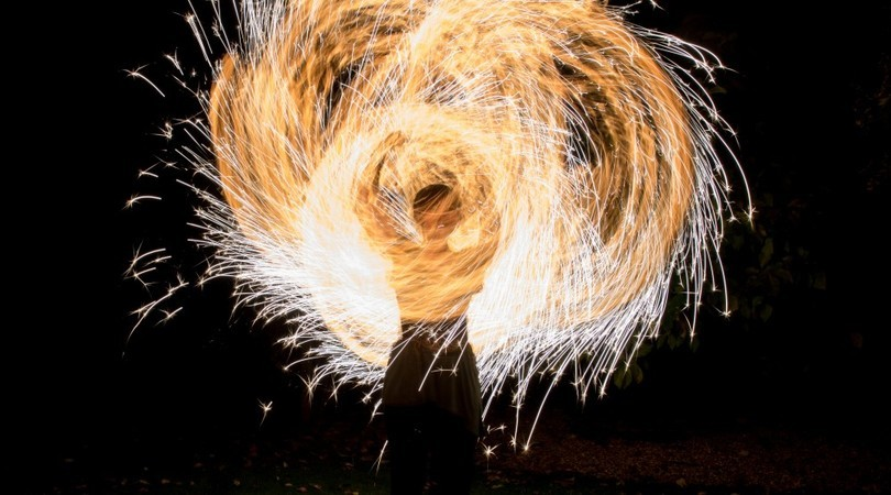 Fire and sparks show Anniversary Party Ideas