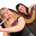 Syrinx Flute and Harp Duo available to hire from Alive Network Entertainment Agency