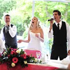 The Singing Servers, Wedding Singing Waiter available to hire for weddings in Merioneth