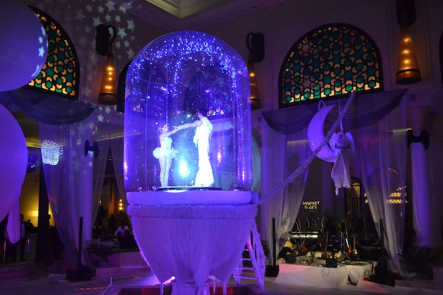 Promo Magical Snowdome Circus Performer London
