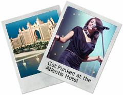 Alive Network provided Get Funked to perform on New Years Eve at the Atlantis Hotel, Dubai
