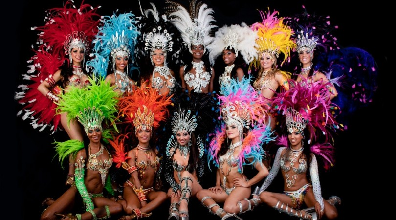 Brazzilian Carnival dancers for Summer Garden Party's