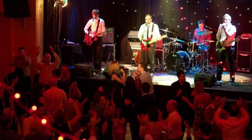 Hipster wedding dance floor