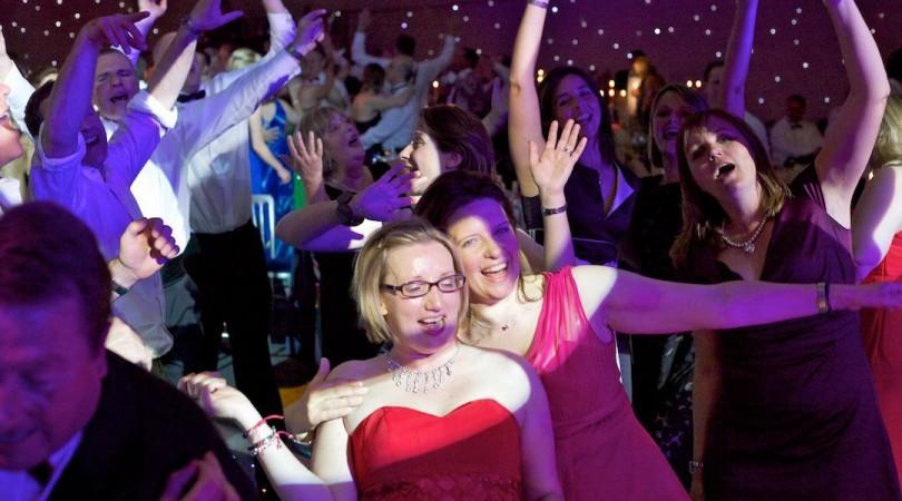Happy crowd at Spalding Midsummer Ball