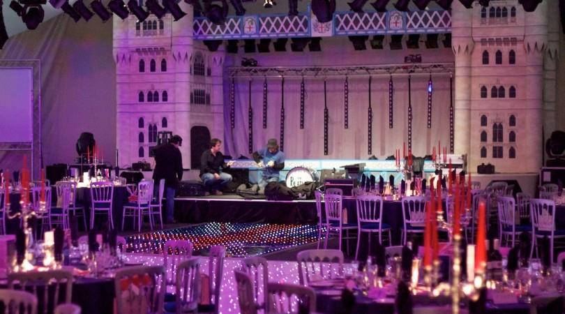 Spalding Midsummer Ball - Stage Setup