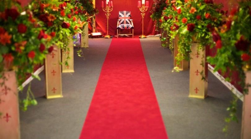 Red carpet at Spalding Midsummer Ball