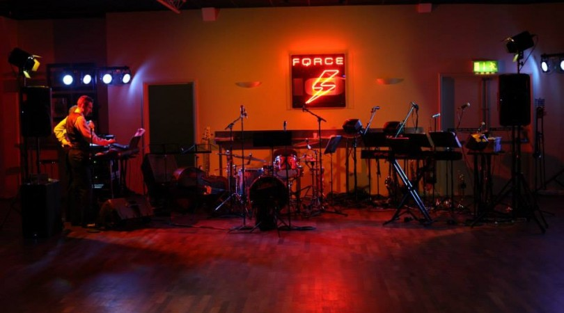 Swing band stage space