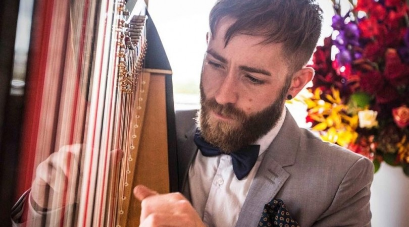Harpist civil wedding ceremony musician