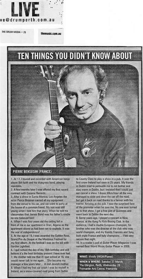 Ten things you didn't know about Pierre Bensusan
