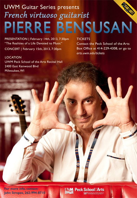 Pierre Bensusan at Peck School of the Arts