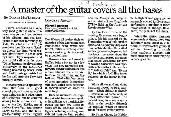 Buffalo Cncert Review