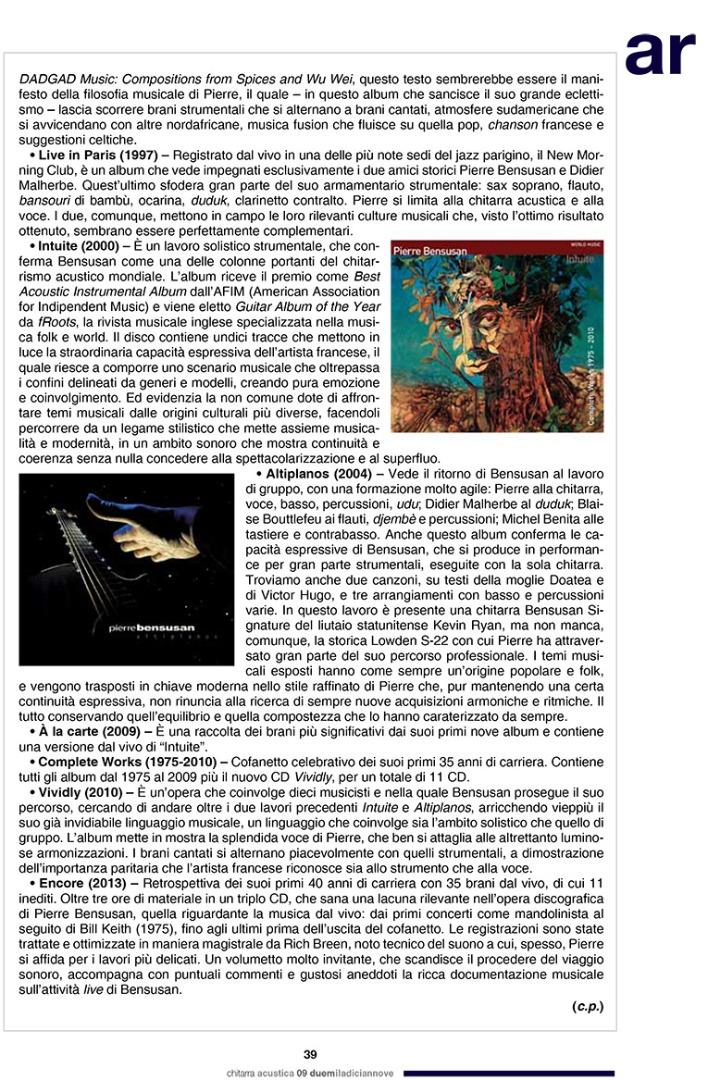 Pierre Bensusan - Chitarra Acustica 12