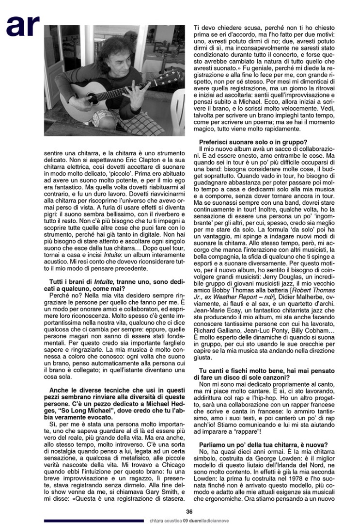 Pierre Bensusan - Chitarra Acustica 9