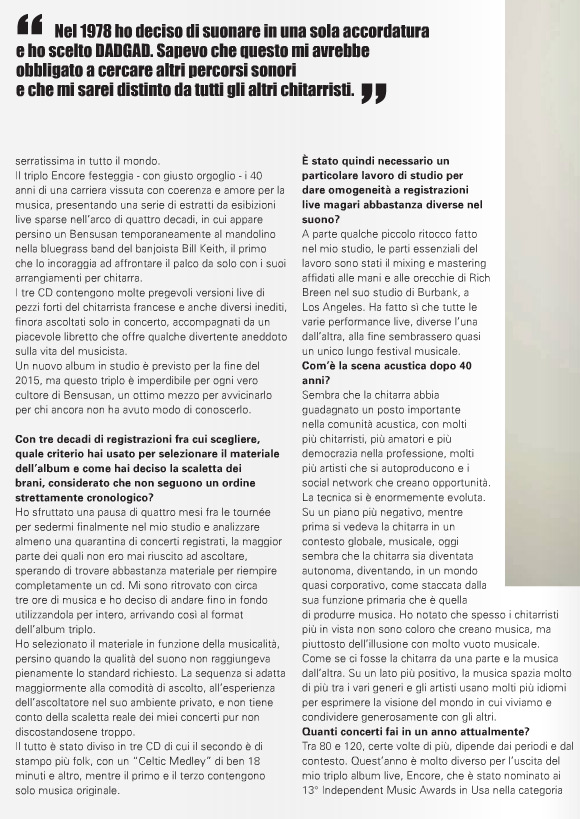 Pierre Bensusan - Chitarre Magazine Feature - Pg2
