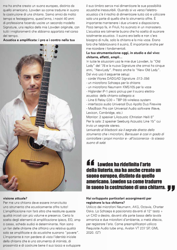 Pierre Bensusan - Chitarre Magazine Feature - Pg5