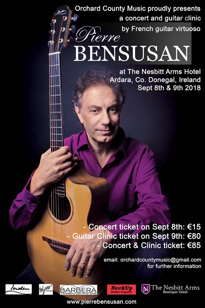 Pierre Bensusan - Concert & Clinic - Co. Donegal
